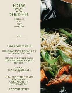 How to order barang ready stock di kami