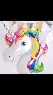 ♡阿嬷的店♡ Unicorn Rainbow Foil Balloon