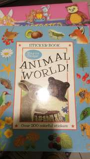 Sticker book (partly used)