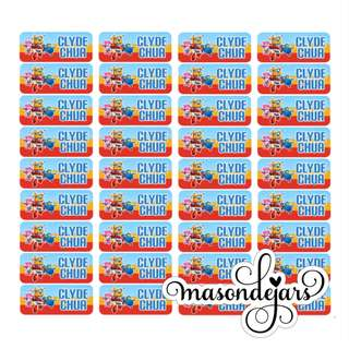 42 x Waterproof School Name Labels Stickers Stickers for Primary Preschool Nursery Kindergarten Primary Office Stationery Chinese Characters