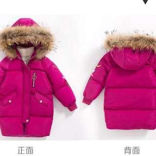 【超!保!暖!實!拍】🔥刺繡兒童連帽羽绒棉外套【四色100-160cm】