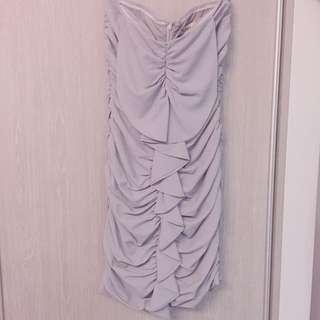 花瓣皺摺平口洋裝 禮服 晚宴服 派對 宴會