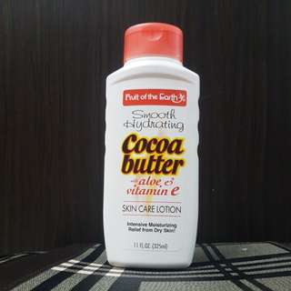 Fruit of the Earth Cocao Butter with Aloe & Vitamin E Body Lotion 325ml