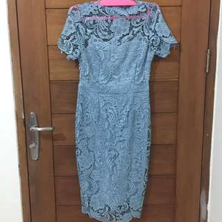 Baby Blue Full Lace Dress