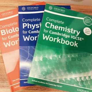 Complete Phy Bio Chem for Cambridge IGCSE WORKBOOK
