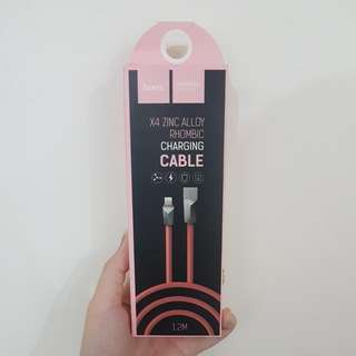 BN PINK ZINC ALLOY CHARGING CABLE