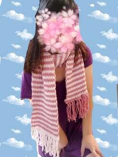 🚚 双色手工圍巾
