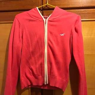 🚚 Hollister 粉色短版薄外套
