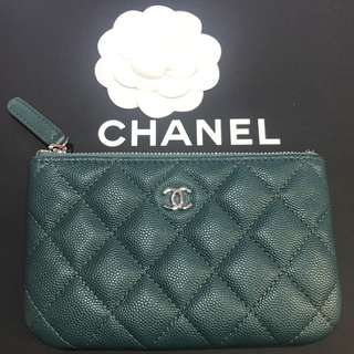 Chanel 荔枝皮 coin bag cardholder