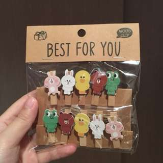 Characters Peg with String