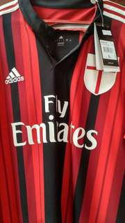 Jersey AC Milan Home 2014/15, Uk.L, BNWT, #NNS Poly Remake, Climacool