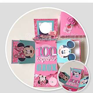 Happy together valentine day Mickey Mouse Explosion Box card