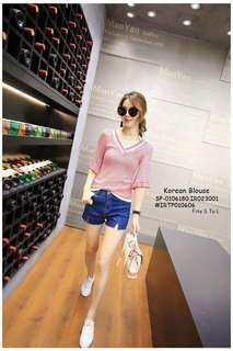 Korean blouse fits S-L