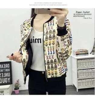 Zipper jacket fits S-L