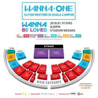 [WTS] Wanna One FM in KL ticket