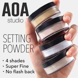🆕 Loose Setting Powder. Skin Perfecting Colour Correcting Brightening Vegan US Cruelty-free Cosmetic Makeup AOA Studio