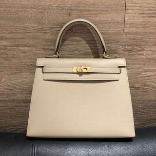 Brand New Hermes Trench Kelly 25 Ghw