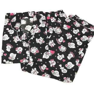 Black cony long pants