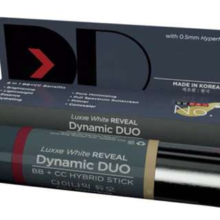 Luxxe White REVEAL - Dynamic DUO BB + CC HYBRID STICK - SPF50 PA+++