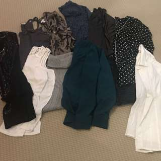A lot of women's clothing