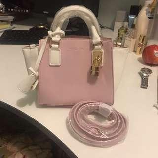 Samantha Thavasa Mini Tote (Pink x White)
