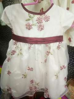 Red and White Cute Gown/Dress