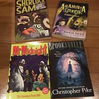 Spooky or suspense children storybooks