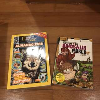 Dinosaur and national geographic children books