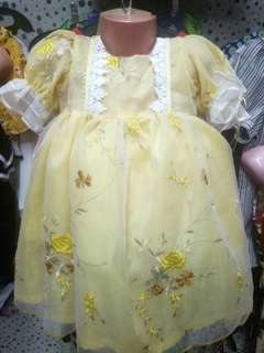 Yellow Gown/Dress Belle Inspired