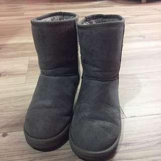 GU❤️輕便灰色雪靴