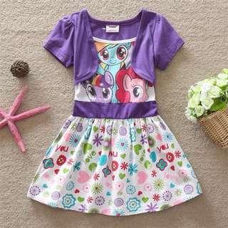 Preorder short sleeve poney dress