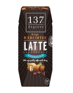 137 Degree Coffee Latte with Almond Milk (Pack of 3)- 180ml