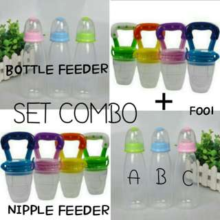 SET COMBO BABY BOTTLE & NIPPLE FEEDER