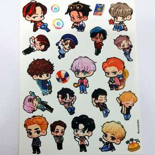 EXO Kokobop fanart stickers