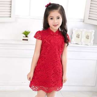 CNY 2018 - Lace Cheongsam for girls