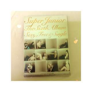 SUPER JUNIOR the 6th album sexy、free & single