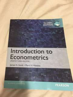 EC3303/EC3304 Introduction to Econometrics (Updated 3rd Edition), Stock and Watson