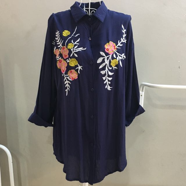 [2forRM60] NEW Floral Embroidery Shirt