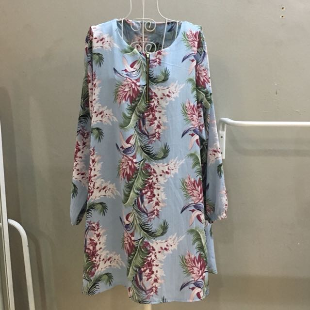 [2forRM60] NEW FLORAL TUNIC BLOUSE