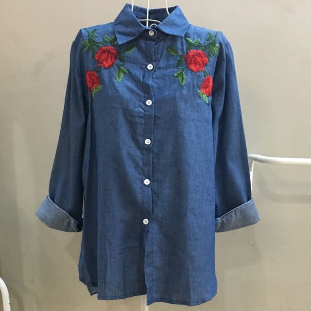 [2forRM60] NEW Roses Embroidery Tops