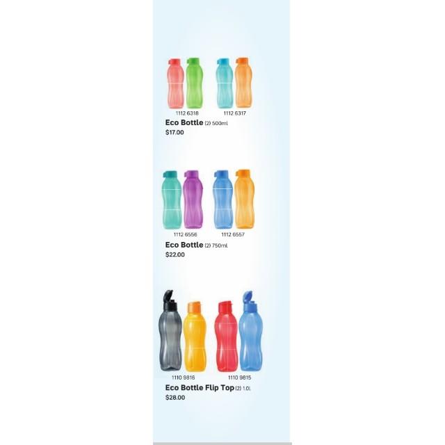 $6.50 (Different sizes) Tupperware ECO Bottles