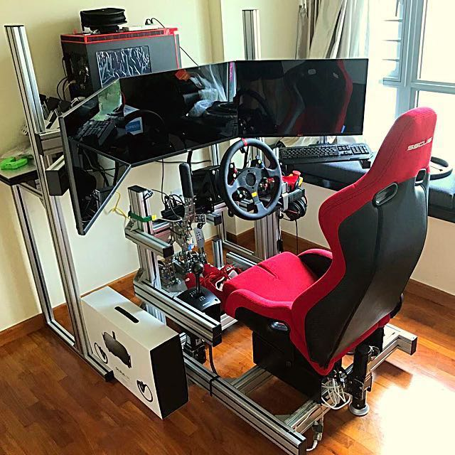 80 20 sim racing rig toys games video gaming gaming. Black Bedroom Furniture Sets. Home Design Ideas