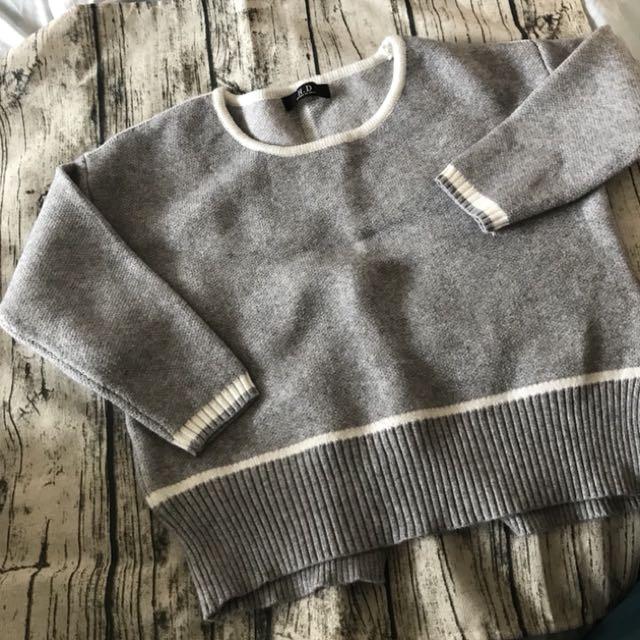 短版後開衩毛衣(可換物)
