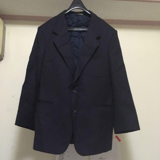 出售【二手】  男西裝服飾(褲子、背心、外套)-深灰黑 (不含運費/面交)