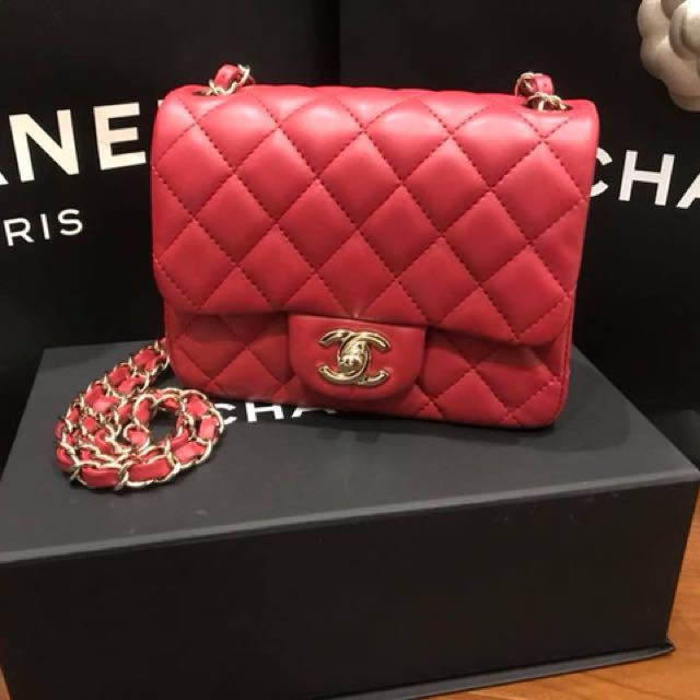 4da06612512d 二手Chanel mini coco 17cm minicoco chanelcoco square cocosquare, 名牌精品,  精品包包在Carousell