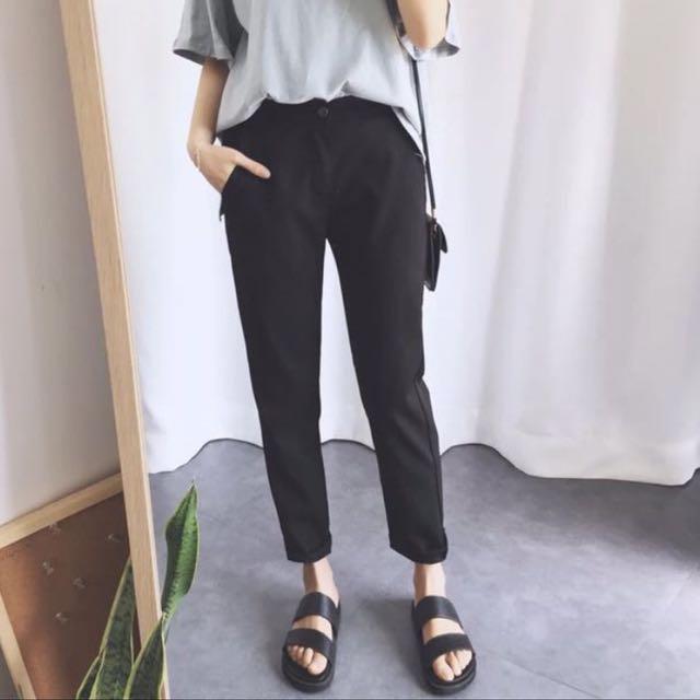 黑色西裝褲 s號