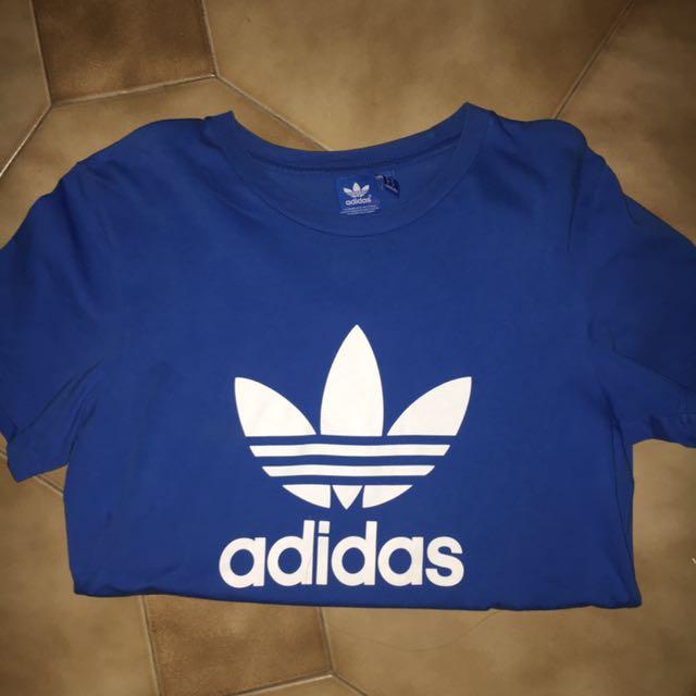 ADIDAS blue logo t shirt
