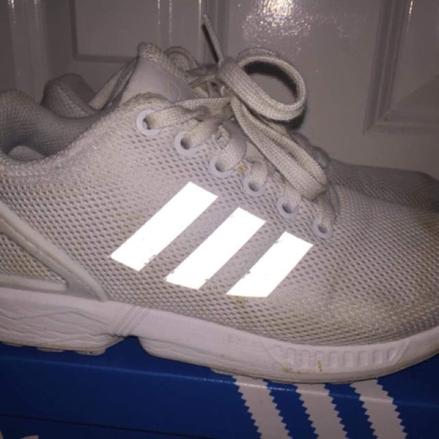Adidas zx flux -all whites