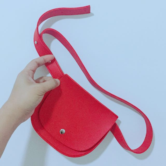 Adjustable Red Belt Bag (spacious)