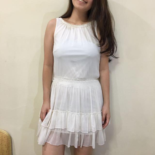 All White Flowy Dress